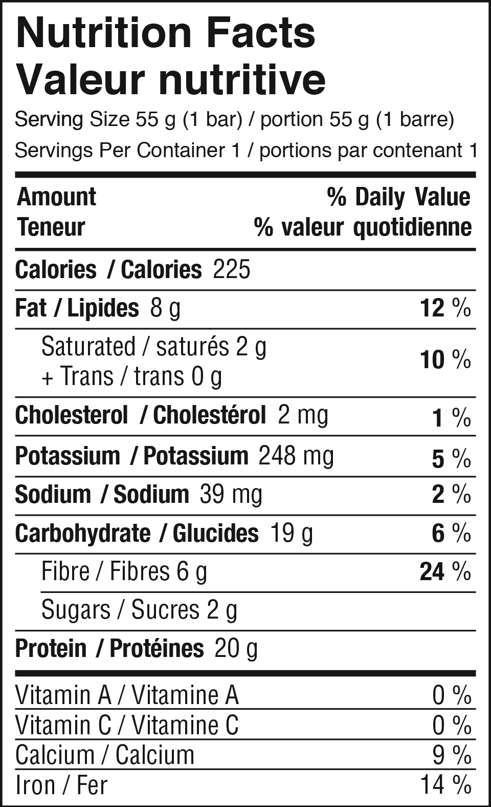 Chocolate Mint Nutrition Facts