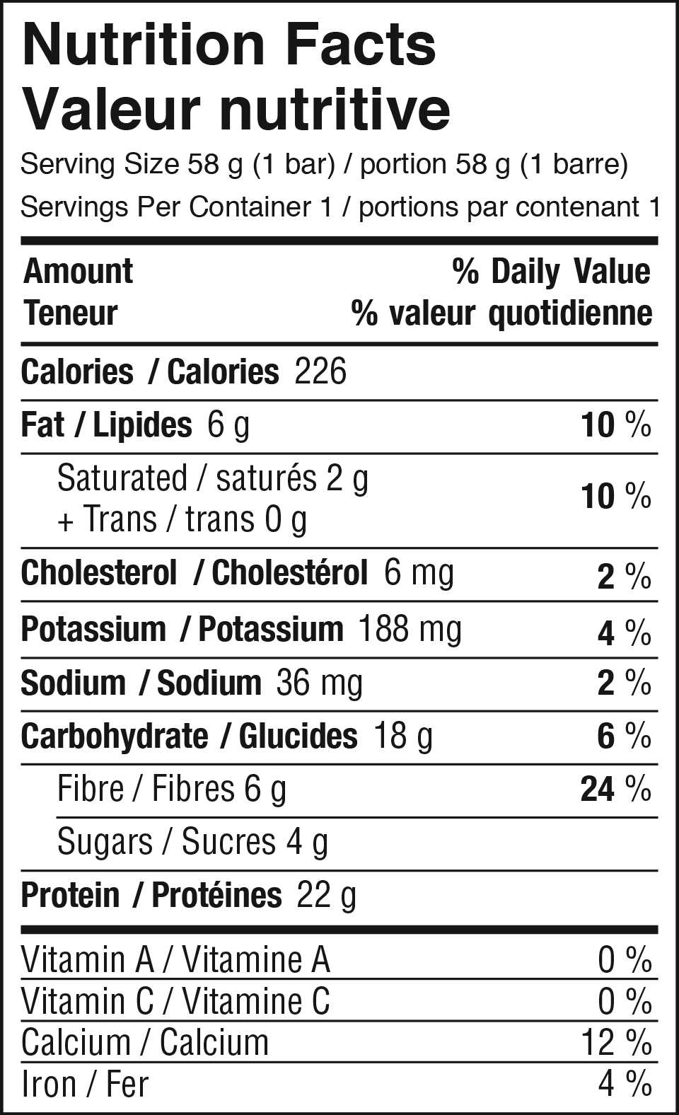 Vanilla Pumpkin Spice Nutrition Facts